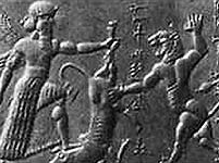 Глиняная табличка с изображением мифа о Гильгамеше
